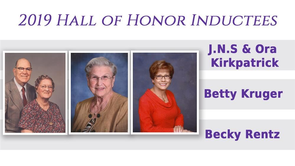 2019 Hall of Honor Inductees
